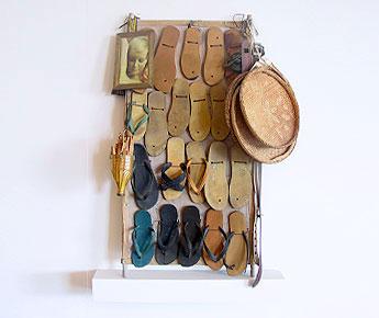 sandálias e peneiras
