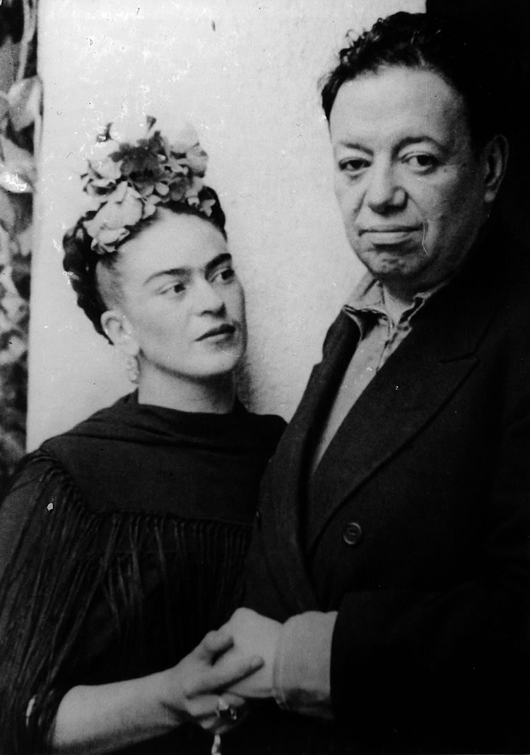 Diego Rivera Diego Rivera y Frida Kahlo en San Angel, 1940