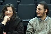 Auditorium - ProaTV. Interview with Cristina Schiavi and Pablo Rosales
