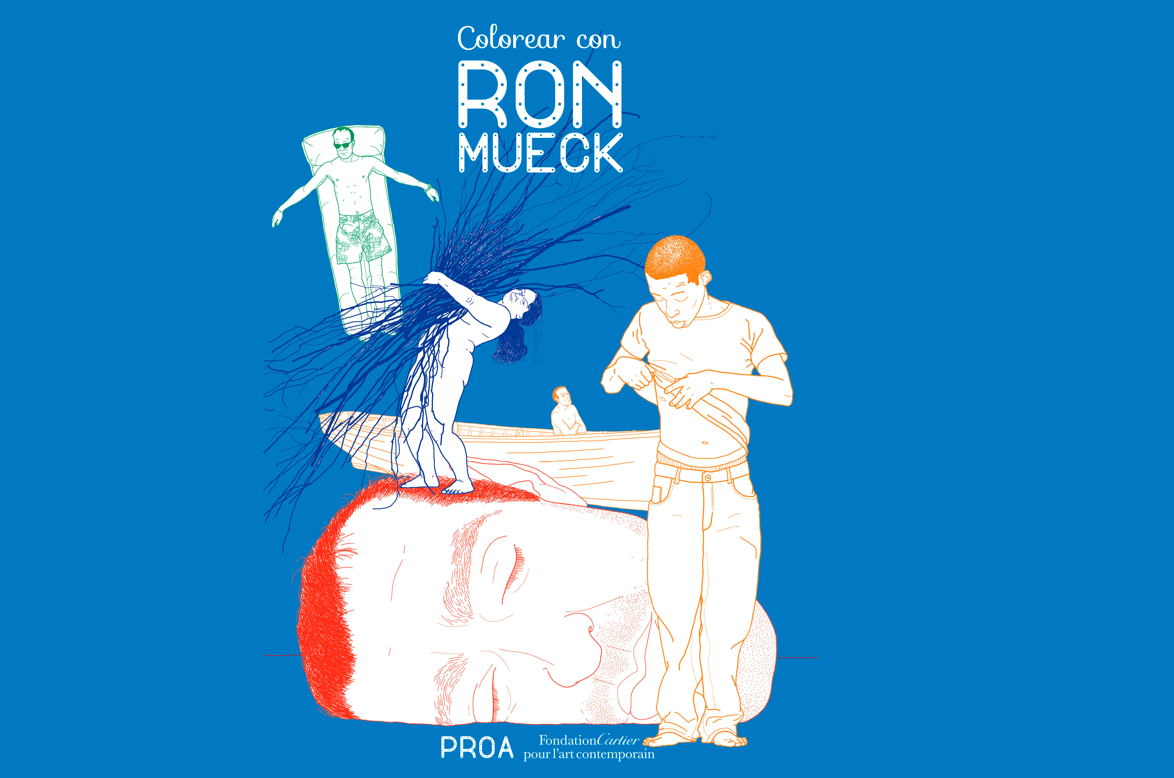 Library - Books to color with Ron Mueck