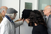 Plaque honoring the Federation of Workers in Naval Construction unveiled